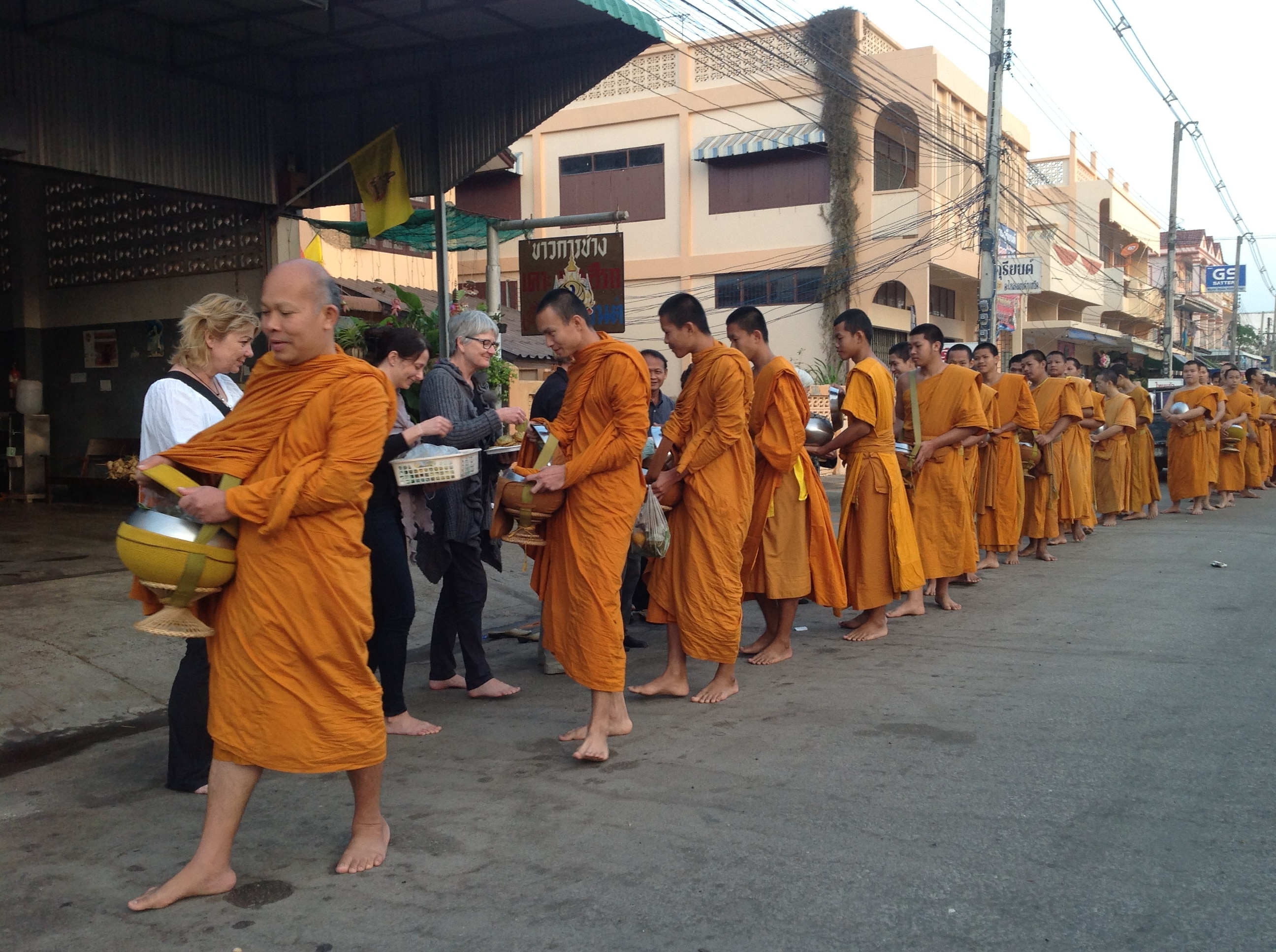 Retreat til That Phanom munke thailand